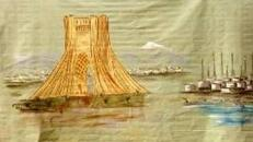 Iran Ölquellen Kulisse, Kulisse, Iran, Ölquelle, Öl, Ölvorkommen, Dekoration, Bohrinsel, Event, Messe, Veranstaltung