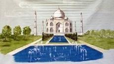 Indien Taj Mahal Kulisse, Indien, Taj Mahal, Kulisse, Tempel, Tempelkulisse, indischer Tempel, Dekoration, Event, Messe