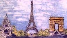 Eiffelturm Kulisse, Eiffelturm, Kulisse, Dekoration, Paris, Frankreich, France, Wahrzeichen, Triumphbogen