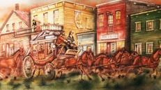 Western Postkutsche Kulisse, Postkutsche, Kutsche, Pferdekutsche, Western, Wilder Westen, Cowboy, Kulisse, Dekoration