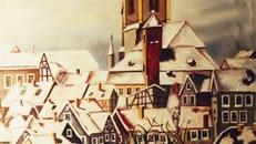 Bergische Winterzeit Kulisse, Kulisse, Dekoration, Winterzeit, Winter, Schnee, Stadtkulisse, Stadt,Event, Messe