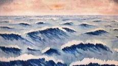 Wasser Wellen Kulisse, Wellen, Wasser, Meer, Ozean, Kulisse, Dekoation, Event, Messe, Veranstaltung, leihen, mieten