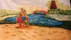 Chinesische Tempeltänzer Kulisse, China, chinesisch, Tempel, Tempelanlage, Tempeltänzer, Tänzer, Japan, japanisch