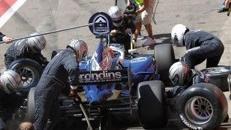 Boxengasse Kulisse, Kulisse, Boxengasse, Box, Boxenstop, Formel1, F1, Autorennen, Rennwagen, Rennauto, Auto, Motorsport