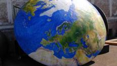 Erdhalbkugel, Erde, Welt, Globus, Planet, Halbkugel, Kugel, Dekoration, All, Weltall, Weltraum, Event, Messe