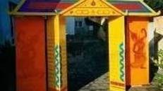 Pagodentor, Tor, Pagoden, Eingang, Eingangstor, Asia, Asien, China, Japan, japanisch, Chinesisch, asiatisch, Dekoration