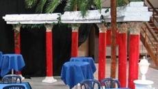 Griechischer Rundtempel, Tempel, Rundtempel, Antik, Säulen, Säulentempel, Griechenland, griechisch, Dekoration, Event