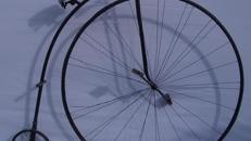 Hochrad Fahrrad, Hochrad, Fahrrad, Französisch, Frankreich, Altes Fahrrad, erste Fahrräder, Dekoration, Urfahrrad