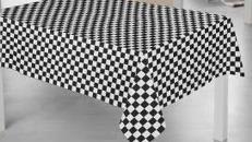 Tischdecken im Zielflaggendesign, Zielflagge, Flagge, Fahne, Ziel, Formel1, F1, Autorennen, Motorsport, Dekoration