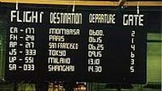 Anzeigetafel, Nachbau, Nachbau, Tafel, Anzeigetafel, Flughafen, Abflug, Ankunft, Termin, Zeit, Zeittafel, Fahrplan
