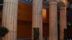 Architraven, Tempel, Verbindung der Tempelsäulen, Säule, Säulen, Griechenland, griechisch, Dekoration, Event, Messe