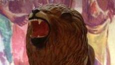 Löwen Figur stehend, Löwe, Figur, König der Löwen, Afrika, Savanne, afrikanisch, Wildkatze, Raubkatze, Großkatze