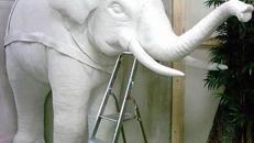 Elefant Figur halb, Elefant, Figur, Afrika, afrikanisch, Indien, indisch, Asia, Asien, asiatisch, Wildtier, Tier