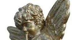 Engel Knaben Figur, Engelfigur, Engel, Figur, Barock, Engelsfigur, Dekoration, Engelsflügel, Heilig, Flöte