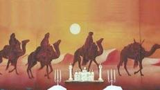 Kamel Karawanen Kulisse, Kulisse, Karawane, Kamel, Wüstenschiff, Wüste, Afrika, Ägypten, Nomade, Event, Messe