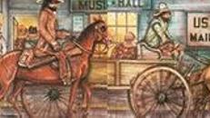 Amerika Musikhall Kulisse, Amerika, Kulisse, USA, Musikhall, Pferdekulisse, Pferdekutsche, Kutsche, Event, Messe