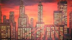 New York Skyline Kulisse, Kulisse, Skyline, New York, USA, Amerika, Stadtkulisse, Großstadt, Hochhaus, Wolkenkratzer