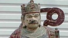 China Kaiser Figur, China, Japan, Kaiser, Figur, Kaiser von China, Holzfigur, Event, Messe, Veranstaltung, leihen