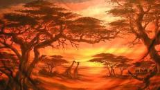 Afrika Serengeti Kulisse, Afrika, Serengeti, Kulisse, afrikanisch, Wüste, Savanne, Event, Messe, Veranstaltung, leihen