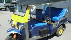 TukTuk, Kleinfahrzeug, Original, Autorikscha, Motorikscha, Trishaw, Indien, Thailand, Taxi, Dekoration, Event, Messe