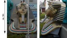 Ägypten Tut Ench Amun Köpfe, Tut Ench Amun, Ägypten, Pharao, Pyramide, Sphinx, Pharao Kopf,  Event, Messe