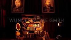 Bibliothek klein, Lesezimmer - WUNDERRÄUME GMBH vermietet: Dekoration/Kulisse für Event, Messe, Veranstaltung, Incentive, Mitarbeiterfest, Firmenjubiläum