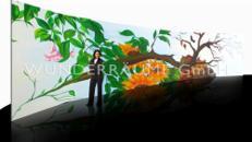 """15m Kulisse/Prospekt: """"Vier Jahreszeiten"""" WUNDERRÄUME GmbH vermietet:  Dekoration / Kulisse für Event, Messe, Veranstaltung, Incentive, Mitarbeiterfest, Firmenjubiläum"""