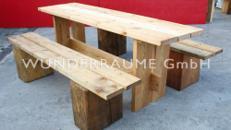 Holzbänke für Feuerstelle - WUNDERRÄUME GmbH vermietet: Dekoration/Kulisse für Event, Messe, Veranstaltung, Incentive, Mitarbeiterfest, Firmenjubiläum