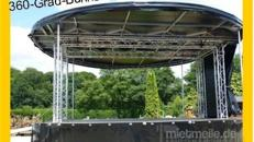 Bühnenwagen rund mieten: Inkl. 20 Km, Auf-u. Abbau.Wie wäre es mit einer runden 360°-Bühne !