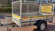 Anhänger mit Laubgitter, zul. Gesamtgewicht 1.300 kg, Ladefläche 2,50 x 1,25 x 1,00 m