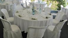 Tisch rund 152 cm oder 183x76 cm, klappbar