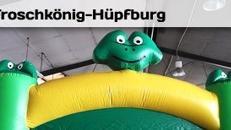 Hüpfburg - Frosch - Froschhüpfburg