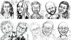 Schnellzeichnen Porträt Karikaturen