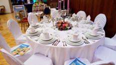 Tischdecke rund 280cm Durchmesser weiß