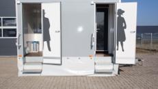 Toilettenwagen 2&1 silber