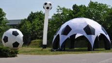 Fußball-Airdome - aufblasbares Zelt mieten