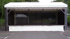 Überdachung Traversengerüst Traversendach 8 x 9 m