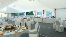 Firmenfeier, Hochzeit, Geburtstag, Jubiläum - Zelt/ Location mit Ausstattung für Ihr Event 201 - 300 Personen first class