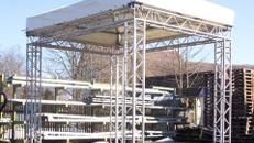 Bühne mit Dach Traversensystem 3x4m - festen Ecken