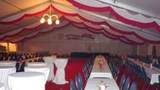 Firmenfeier, Hochzeit, Geburtstag, Jubiläum - Zelt/ Location mit Ausstattung für Ihr Event 201 - 300 Personen Gehoben Plus