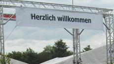 """""""Herzlich Willkommen""""- Plane für Eventdekoration"""
