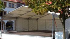 Bühne mit Zeltüberdachung 6 x 9 m