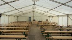 Firmenfeier, Hochzeit, Geburtstag, Jubiläum - Zelt/ Location mit Ausstattung für Ihr Event 201 - 300 Personen rustikal