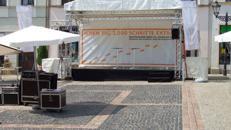 Bühne mit Dach Traversensystem 6 x 3m
