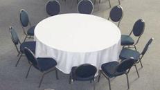 Tischdecke rund 280 cm mit ca. 50 cm Überhang