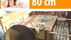 Paella Riesenpfanne 80 cm ! inklusive ! 24 KW Brenner