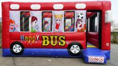 Hüpfburg Happy Bus