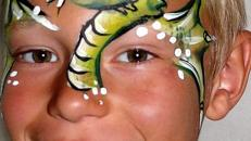 Kinderschminken, Glitzertattoo, Babybauchbemalung
