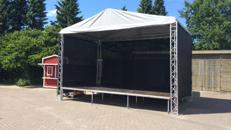 Bühne 4 x 6 x 5m inkl. Auf und Abbau
