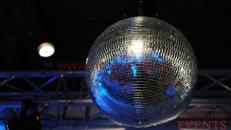 Spiegelkugel mit Motor und Pin Spot/Diskoeffekte/Partykugel/ Discokugel 30 cm Durchmesser